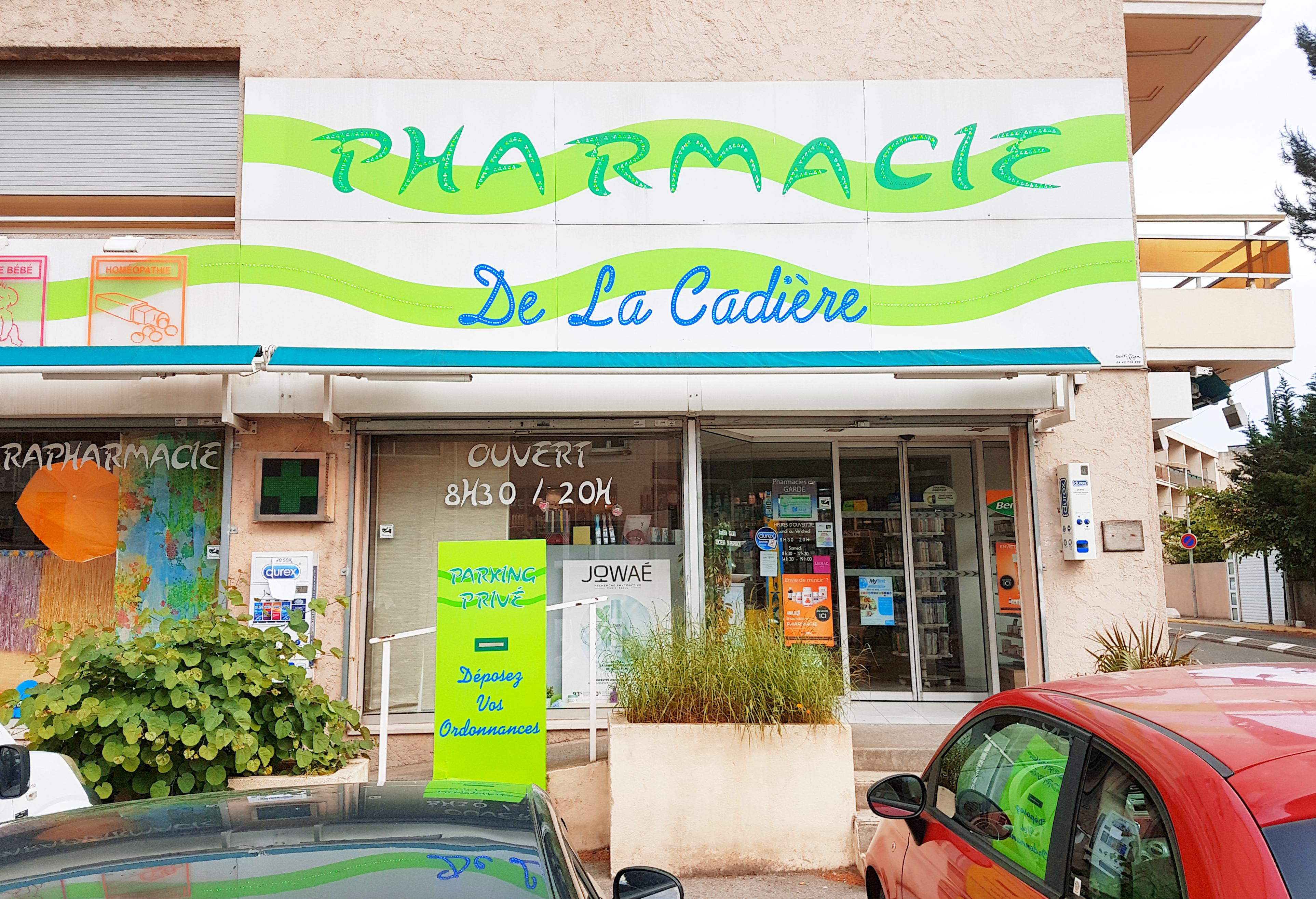 Photo de la devanture de Pharmacie de la Cadière